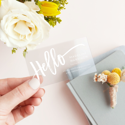 Five Reasons Why People Love Transparent Business Cards