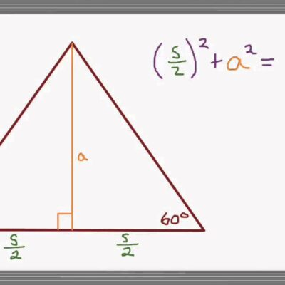 How to determine the area of an equilateral triangle?